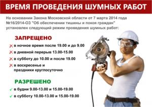 Строительный Шум В Субботу В Москве