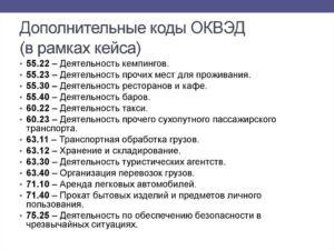 Коды Оквэд Для Такси Ип 2020