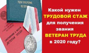 Стаж Для Ветерана Труда В России В 2020 Году С 1 Января В Алтайском Крае