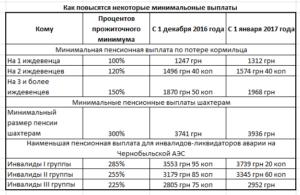 Пенсии чернобыльцам инвалидам 1 категории в 2020 году в украине