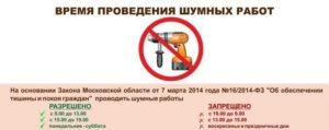 График Шумных Работ В Жилом Доме В Московской Области 2020