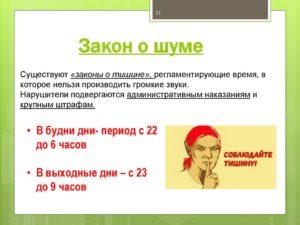 Закон О Шумовых Работах В Москве
