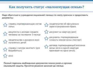 Как Оформить Статус Малообеспеченной Семьи Челябинск