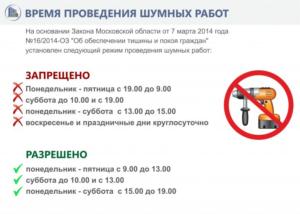 Часы Строительных Работ В Жилых Домах Московская Область